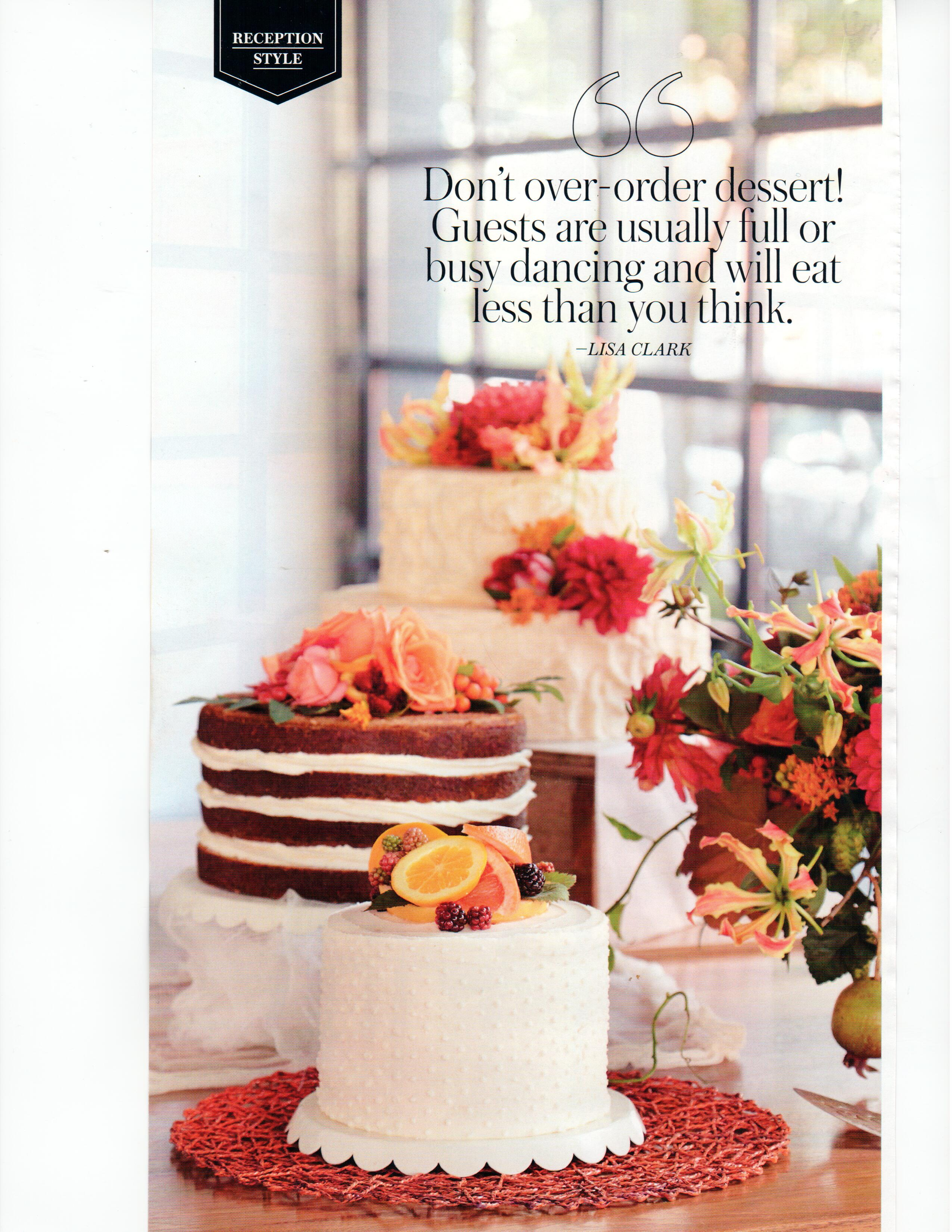 Portland Bride Groom Features Our Wedding Cakes